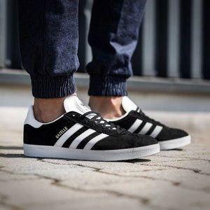 Adidas Gazelle classic black suede sneakers